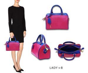LadyB Double Zip handbag Peony