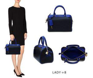 LadyB Double Zip handbag Onyx